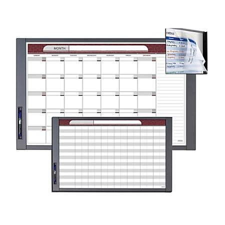 "Quartet® InView™ Custom Whiteboard, 23"" x 20 1/2"", White Board, Gray Graphite Frame"