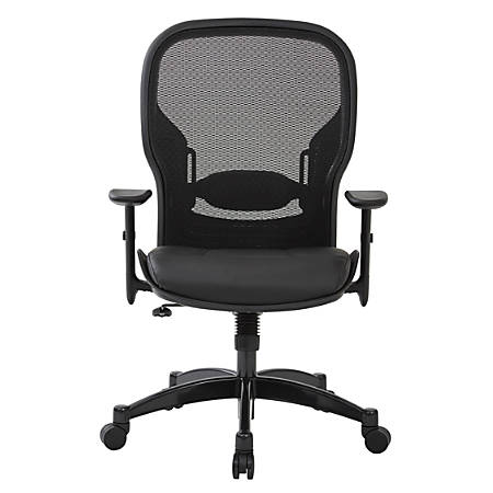 Office Star™ Space Seating® Mesh High-Back Chair, Black/Gunmetal