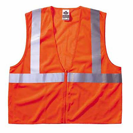 Ergodyne GloWear® Safety Vest, 8210Z Economy Mesh Type-R Class 2, 2X/3X, Orange