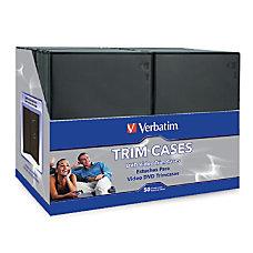 Verbatim DVD Trim Cases Black Pack
