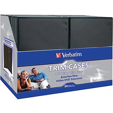 Verbatim 95094 DVD Trim Storage Cases Black 50 PK