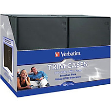 Verbatim CDDVD Black Video Trimcases 50pk