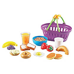 New Sprouts Play Breakfast Basket Plastic