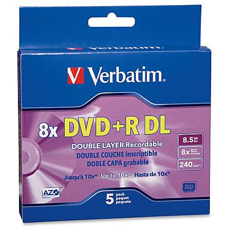 Verbatim 5 Pack 8x DVDR DL