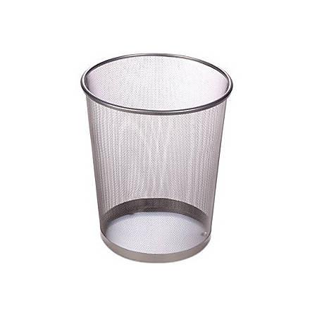 Honey-Can-Do 18L Steel Mesh Waste Basket, Silver