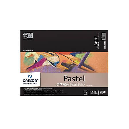 "Canson Mi-Teintes Pastel Pad, 12"" x 16"", Assorted Colors, 24 Sheets Per Pad"