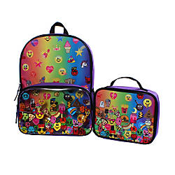 Emojination Rainbow Emojis Backpack With Lunch