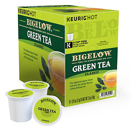 Bigelow® Green Tea Single-Serve K-Cups®, 1.5 Oz, Box Of 24 Pods