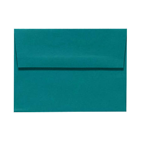 "LUX Invitation Envelopes With Peel & Press Closure, A9, 5 3/4"" x 8 3/4"", Teal, Pack Of 500"
