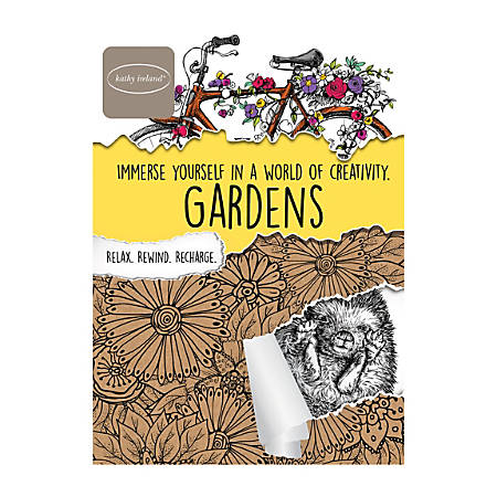 Bendon Adult Coloring Book Kathy Ireland Garden by Office Depot ...
