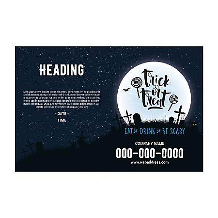 Banner Template, Horizontal, Halloween Moon
