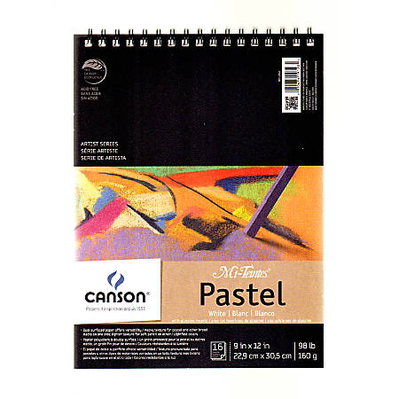 """Canson Mi-Teintes Pastel Pad With Interleavings, 9"""" x 12"""", White, 16 Sheets"""