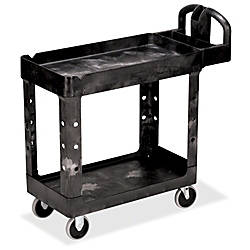 Rubbermaid HD 2 Shelf Utility Cart