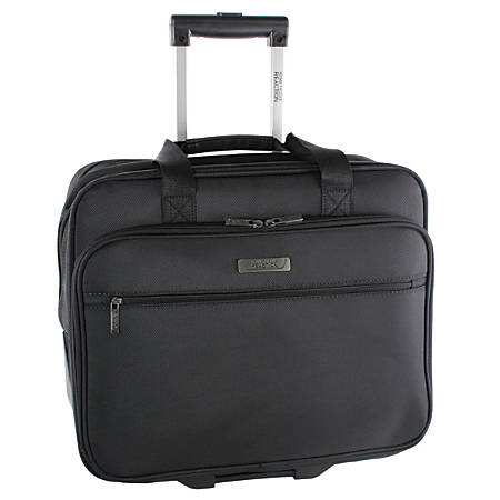"Kenneth Cole Reaction Wheeled Business Case With 17"" Laptop Pocket, Black"