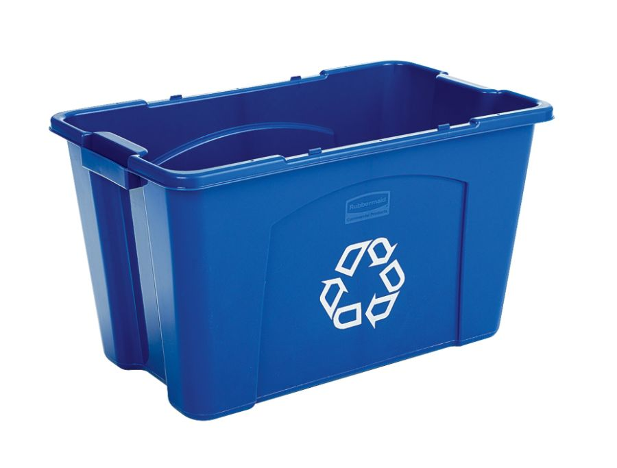 Delicieux Rubbermaid Commercial Rectangular Polyethylene Stacking Recycle Bin 18  Gallons Blue By Office Depot U0026 OfficeMax