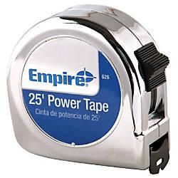 Empire Chrome Case Power Tape Measure