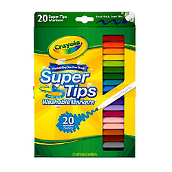 Crayola Washable Markers Super Tip Assorted