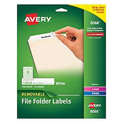 Avery Removable File Folder Labels Inkjet