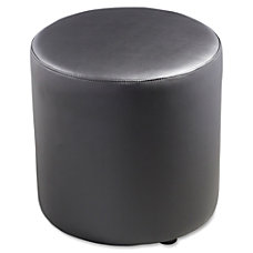 Lorell Collaborative Seating Cylinder Ottoman Bonded