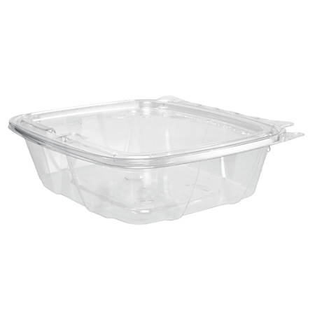 """Dart® ClearPac® Containers, 7 1/8""""H x 6 7/16""""W x 1 15/16""""D, 0.75 Qt, Clear, Pack Of 200 Containers"""