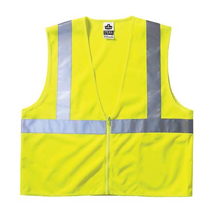 Ergodyne GloWear® Safety Vest, 8210Z Economy Mesh Type-R Class 2, 2X/3X, Lime