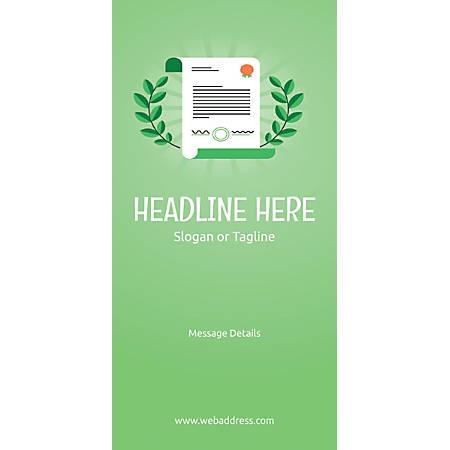 Custom Vertical Banner, Certificate