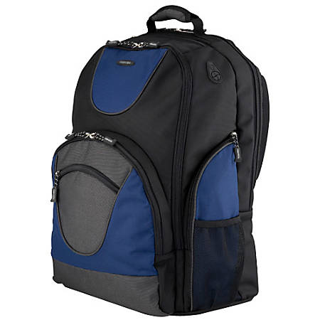 Toshiba Laptop Backpack, Black/Blue