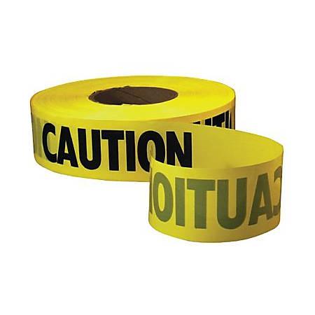"Empire Economy Caution Barricade Tape, 3"" x 1000 ft, Yellow/Black"