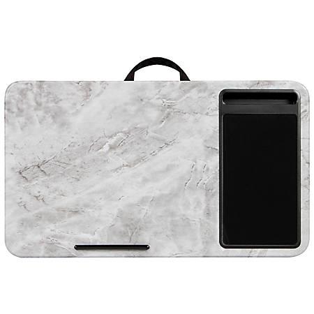 """LapGear Lap Desk With Mouse Pad, 12""""H x 21.1""""W x 2.6""""D, Marble"""