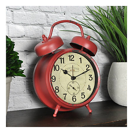 FirsTime & Co.® Double Bell Alarm Clock, Red
