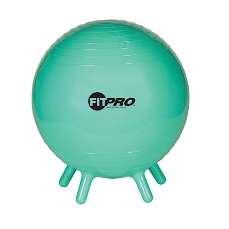 "Champion Sports FitPro Ball With Stability Legs, 16 1/2"", Mint Green"