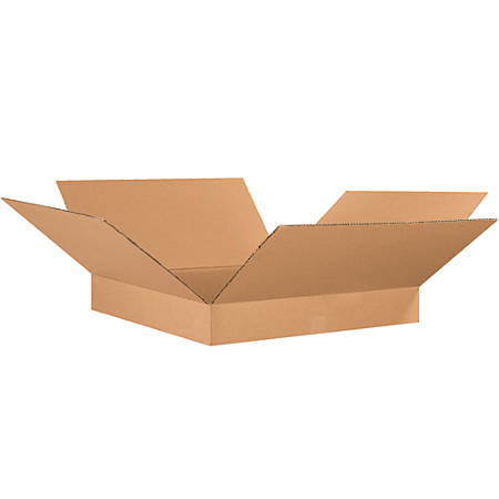 """Office Depot® Brand Corrugated Boxes, Flat, 4""""H x 26""""W x 26""""D, Kraft, Pack Of 15"""