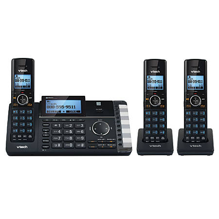 VTech® DS6251-3 DECT 6.0 Expandable 2-Line Cordless Phone With Answering System, 80-1401-00