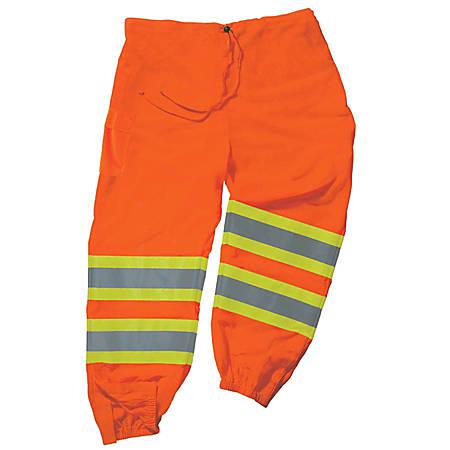 Ergodyne GloWear® 8911 Class E Polyester 2-Tone Pants, 4X/5X, Orange