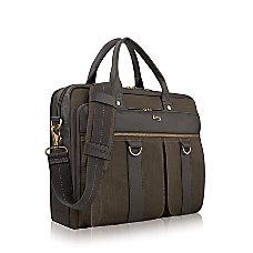Solo Mercer 156 Laptop Briefcase OliveEspresso