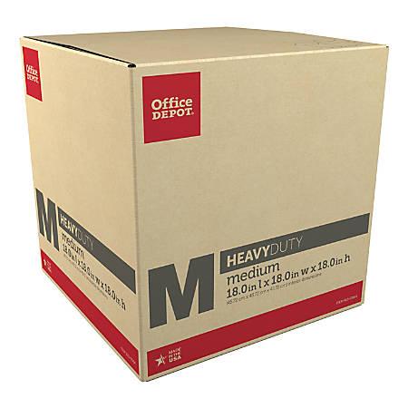 "Office Depot® Brand Corrugated Storage Box, 18""H x 18""W x 18""D, Kraft"