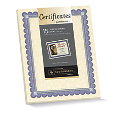 Southworth Foil Enhanced Preprinted Certificate Refills