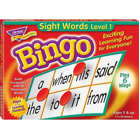 Trend® Sight Words Bingo Game