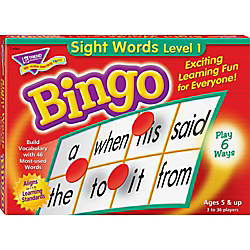 Trend Sight Words Bingo Game