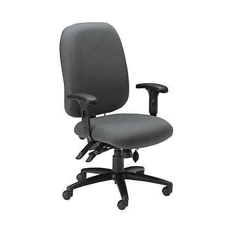 Mayline® 24-Hour High-Performance Armless Task Chair, Gray