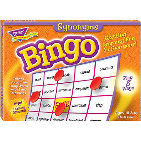 Trend Synonyms Bingo Game
