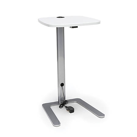 OFM ACCTAB Accent Table With USB Grommet, White