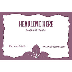 Adhesive Sign Purple Leaves Horizontal