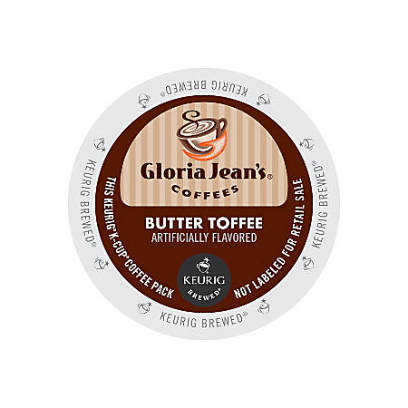 Gloria Jean's Coffees Butter Toffee Coffee K-Cup® Pods, Box Of 24 Pods