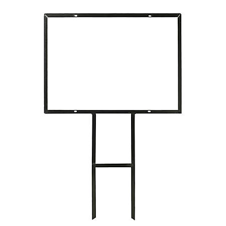 "Metal Frame For Custom Outdoor Signs, 20"" x 28"", Black"