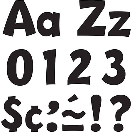 "Trend® Ready Letters® 4"" Letters, Playful Combo, Black, Pack Of 70"