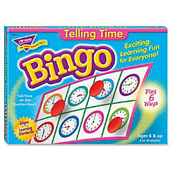 Trend Telling Time Bingo Game