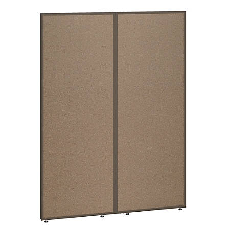 """Bush Business Furniture ProPanels 66""""H Office Partition, 48""""W, Harvest Tan/Taupe, Standard Delivery"""