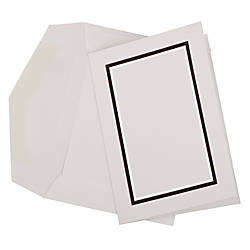 JAM Paper Small Stationery Set BlackWhite