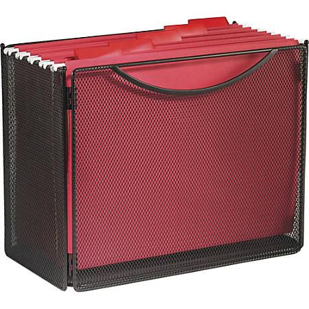 "Safco® Onyx Steel Mesh Desktop Box File, 10""H x 12 1/2""W x 7""D, Black"